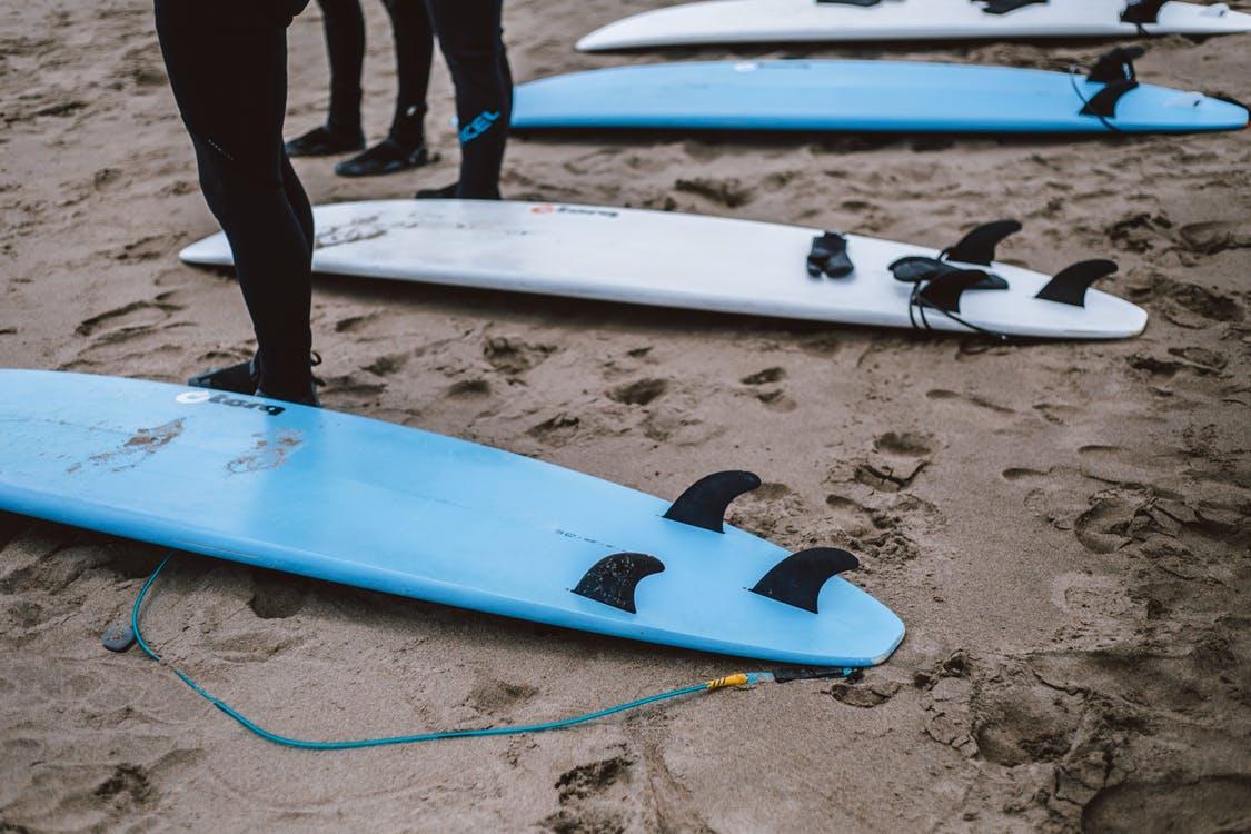 Squash tail surfboard
